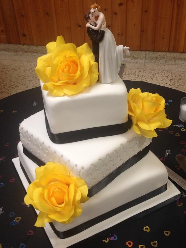 Black & Yellow Wedding