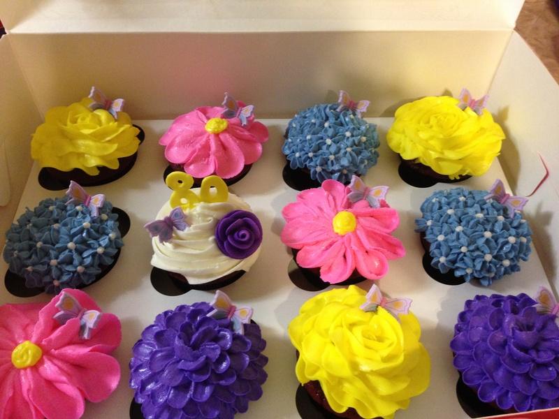 Spring Boquet Cupcakes
